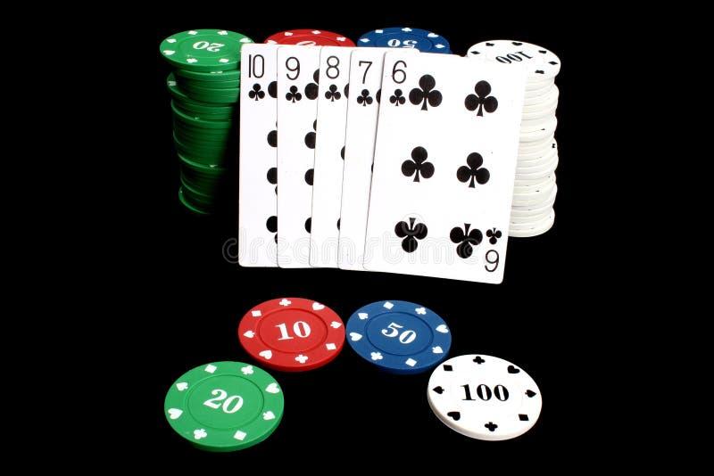 Resplendor do póquer imagens de stock