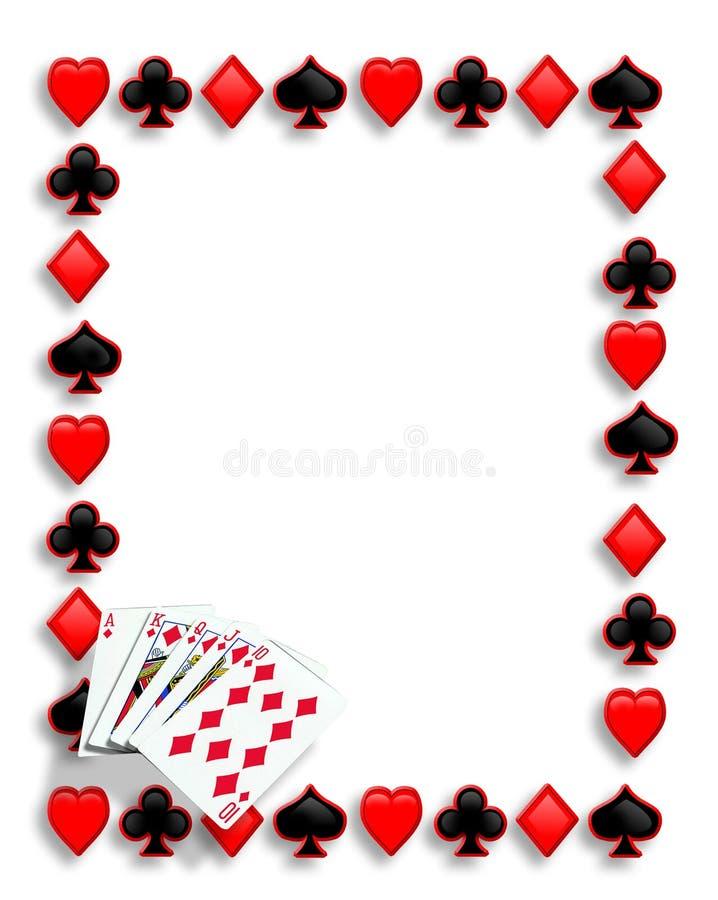 Resplendor real da beira do póquer dos cartões de jogo ilustração stock