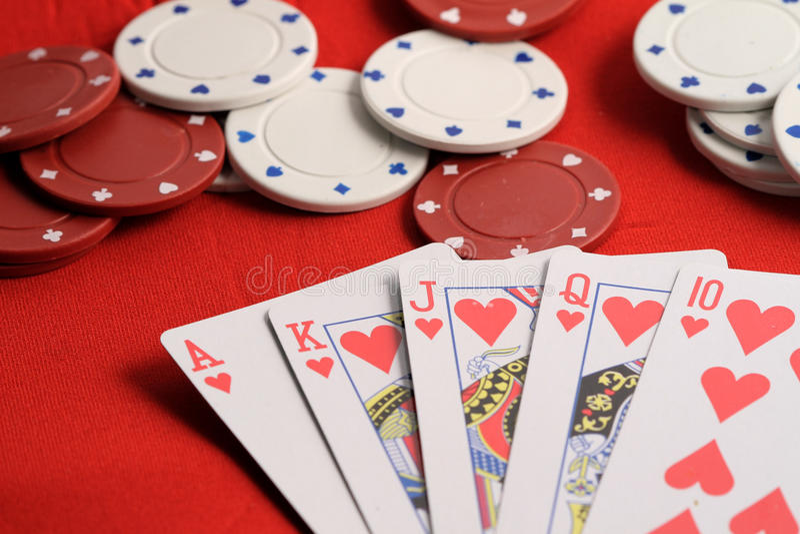 Resplendor real da tabela do póquer fotografia de stock