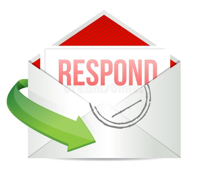 Download Respond envelope stock illustration. Illustration of communication - 29250033