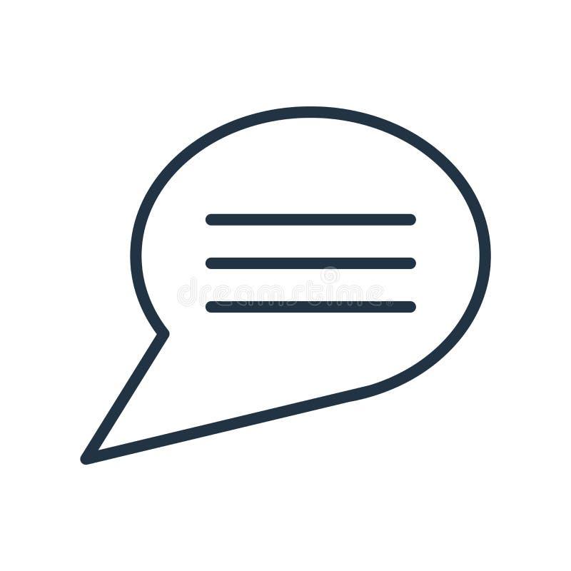 Responda ao vetor do ícone isolado no fundo branco, sinal da resposta ilustração stock