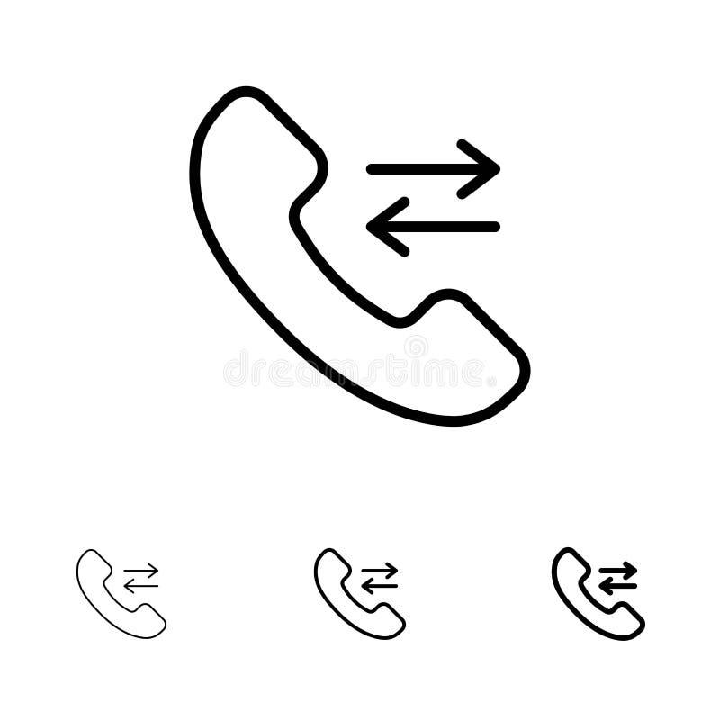 Responda, chame, contacte a nos corajosos e à linha preta fina grupo do ícone ilustração do vetor