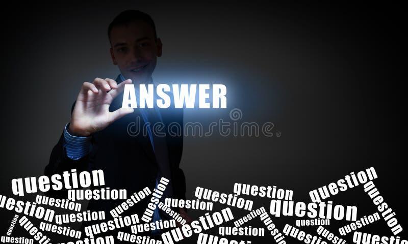 Responda a toda sua pergunta foto de stock royalty free
