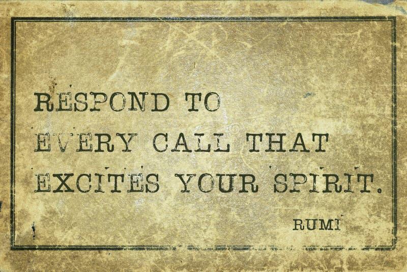 Responde cada Rumi fotos de stock