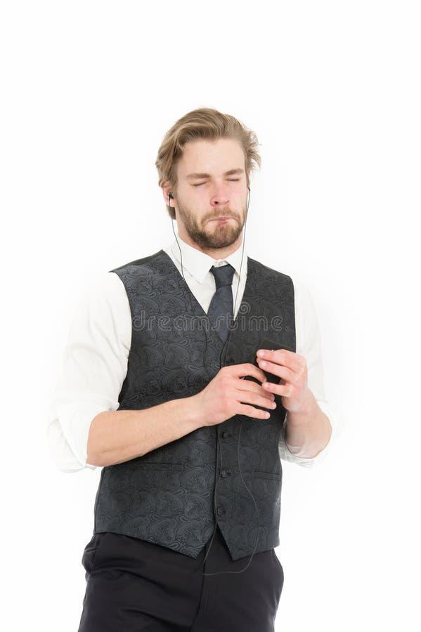 Responsabile con la barba sul fronte triste fotografia stock