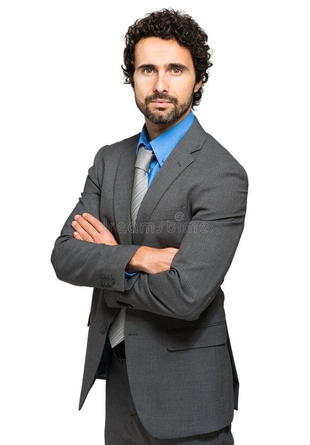 Responsabile maschio sicuro fotografia stock
