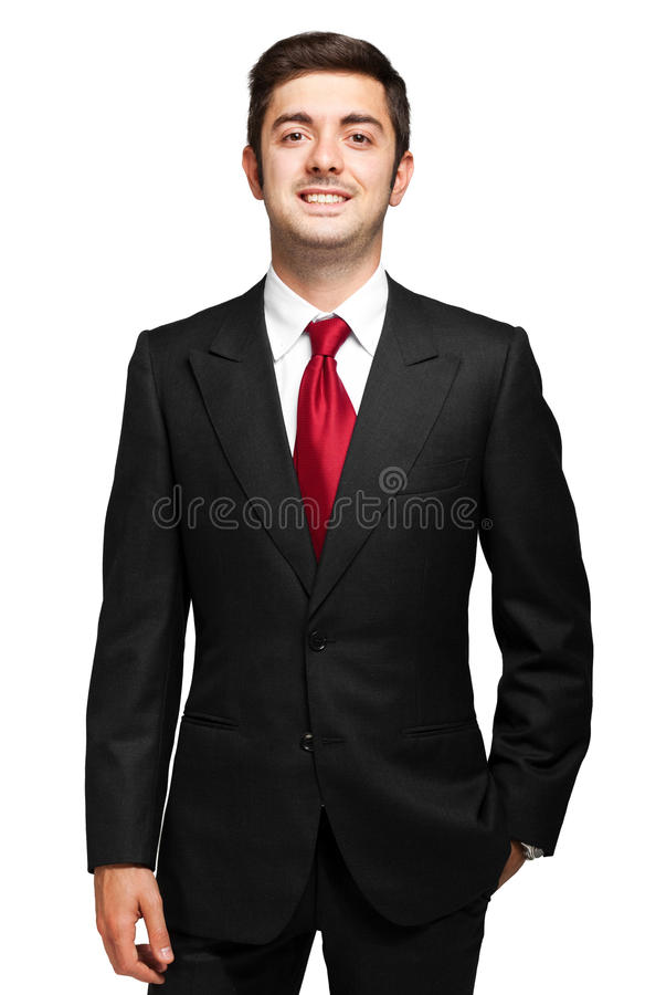 Responsabile maschio su fondo bianco immagini stock libere da diritti