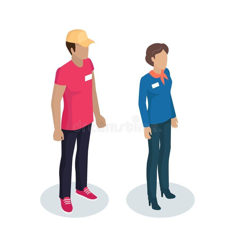 Responsabile Uniform Vector Illustration del fattorino royalty illustrazione gratis