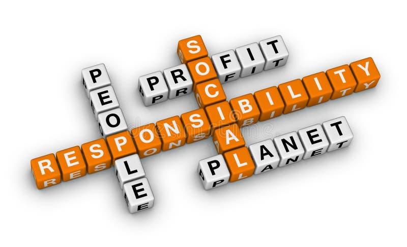 Responsabilidad social ilustración del vector