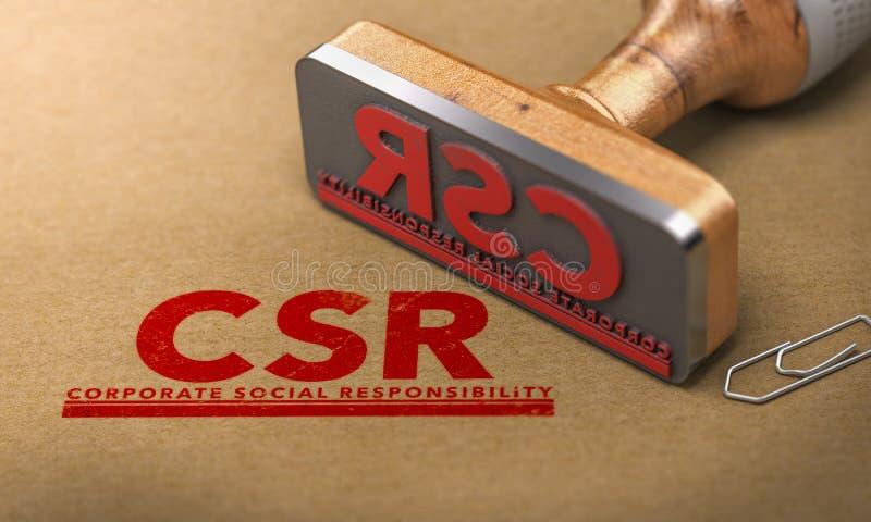 Responsabilidad social corporativa, CSR stock de ilustración