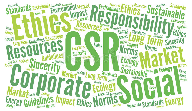 Responsabilidad social corporativa del CSR stock de ilustración