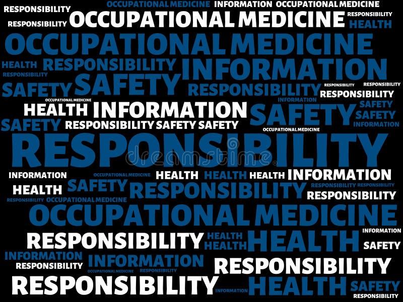 RESPONSABILITÉ - EXEMPTION - image avec des mots liés à la SÉCURITÉ de TRAVAIL de sujet, mot, image, illustration illustration libre de droits