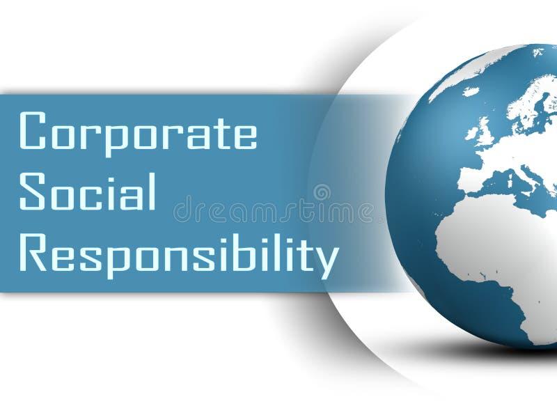 Responsabilité sociale de l'entreprise illustration libre de droits