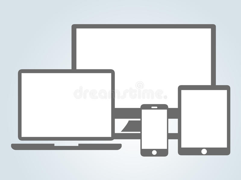 Responsive. Concept using modern devices royalty free illustration