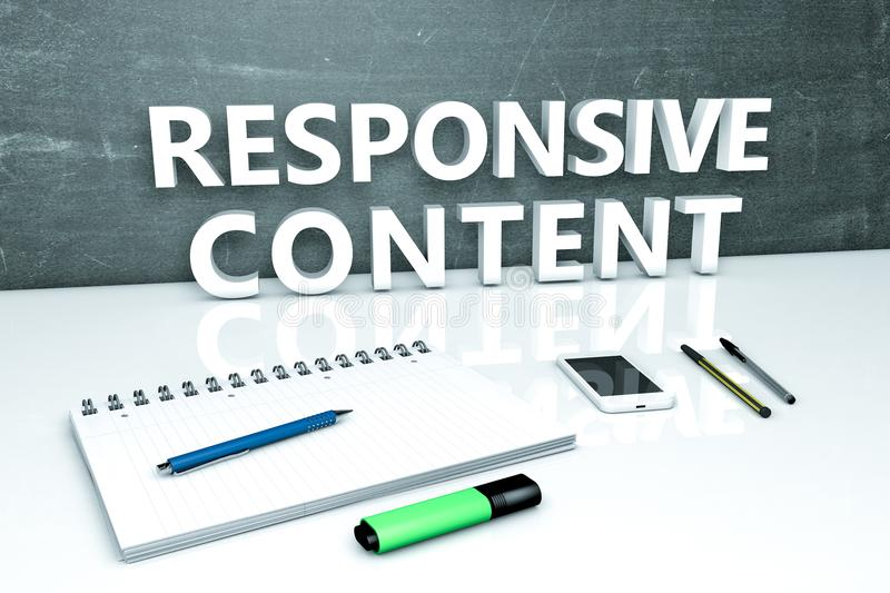 Responsive Content text concept royalty free illustration
