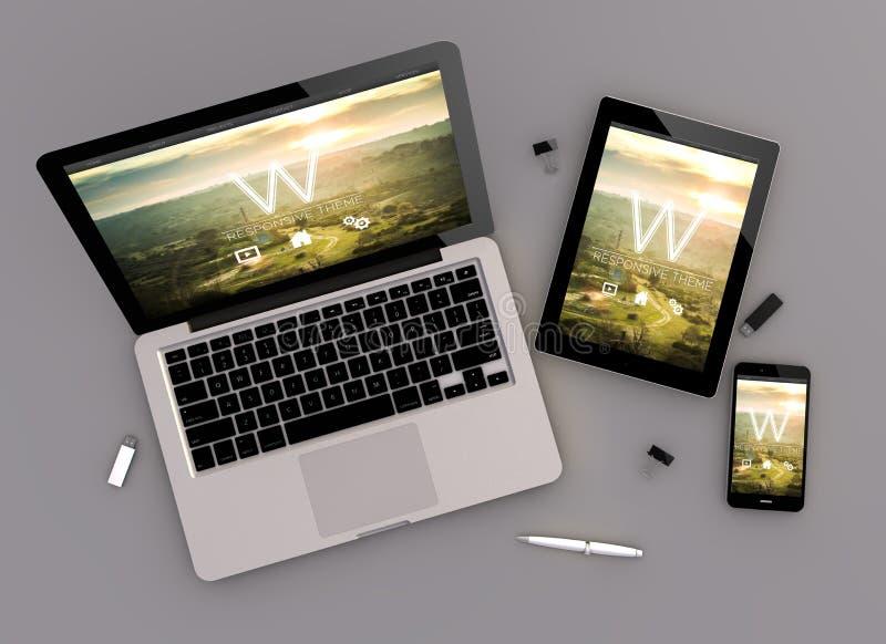 Responsive Design Cresponsive Sharing Zenith View Stock Illustration - Photo sharing website template