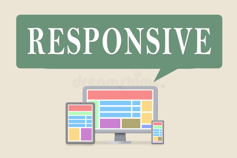 Responsive. Design with digital devices vector illustration