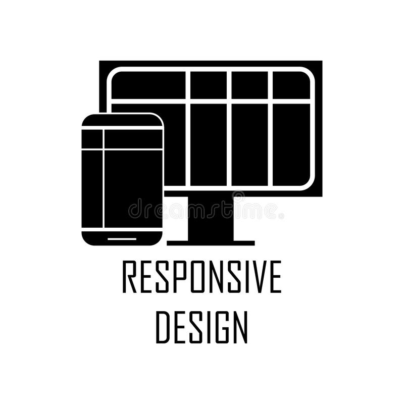 Responsive design icon. Element of Web Development for mobile concept and web apps. Detailed responsive design icon can be used fo. R web and mobile. Premium royalty free illustration