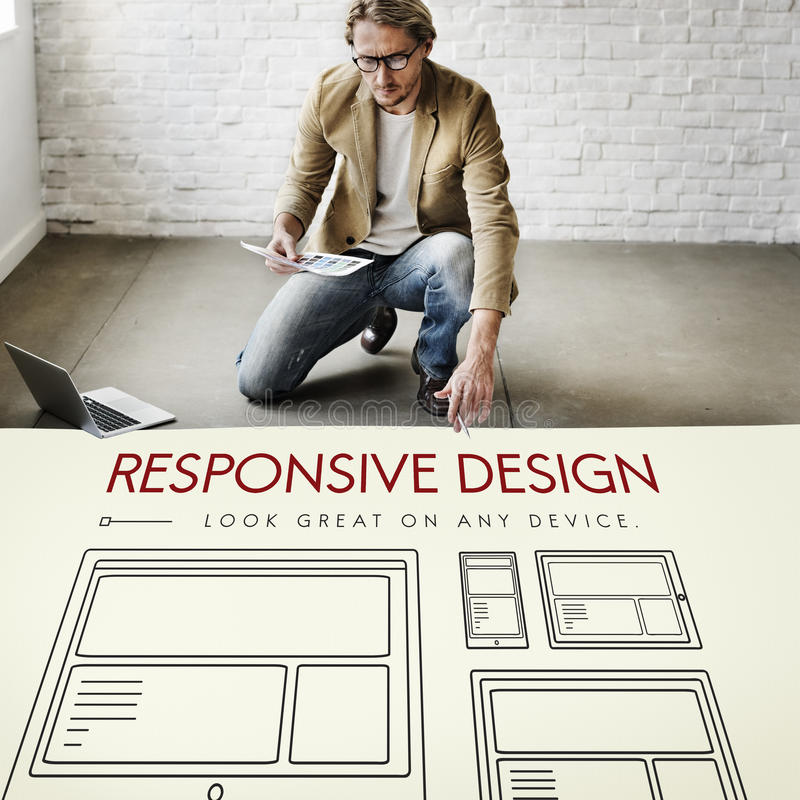 Responsive Design Layout Webpage Template Concept royalty free stock image