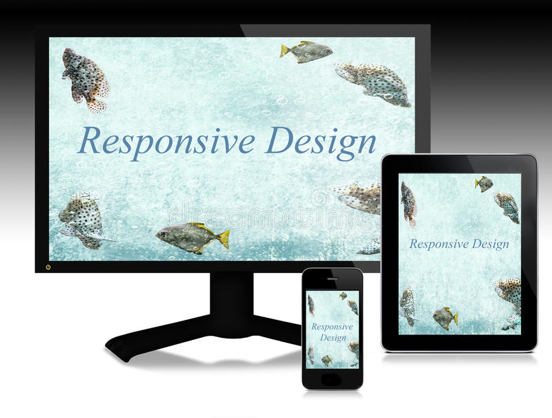 Responsive design, scalable websites stock photography
