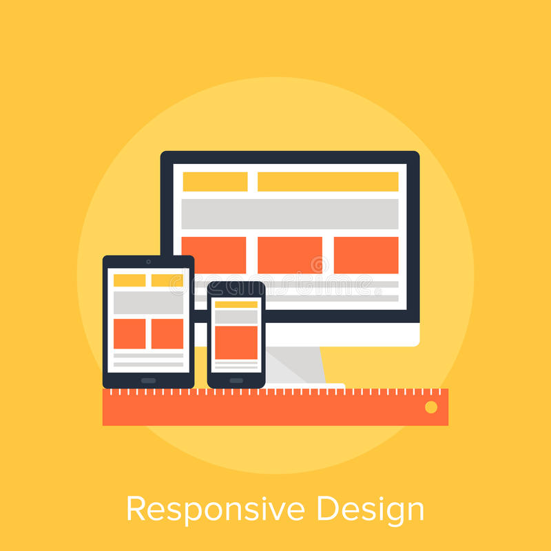Responsive Design stock illustration