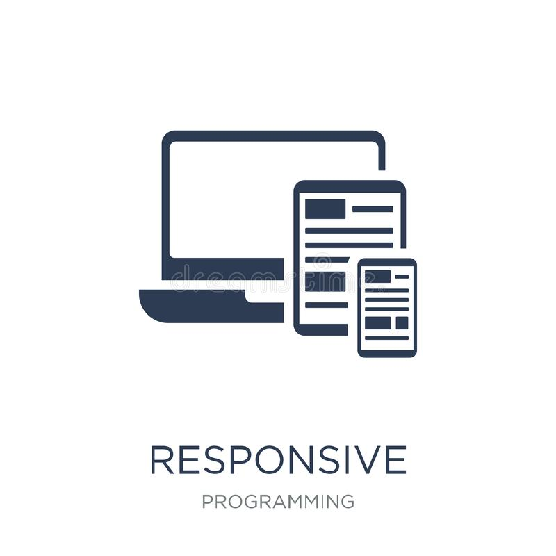 Responsive icon. Trendy flat vector Responsive icon on white background from Programming collection vector illustration
