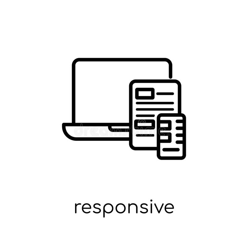 Responsive icon. Trendy modern flat linear vector Responsive icon on white background from thin line Programming collection. Editable outline stroke vector vector illustration