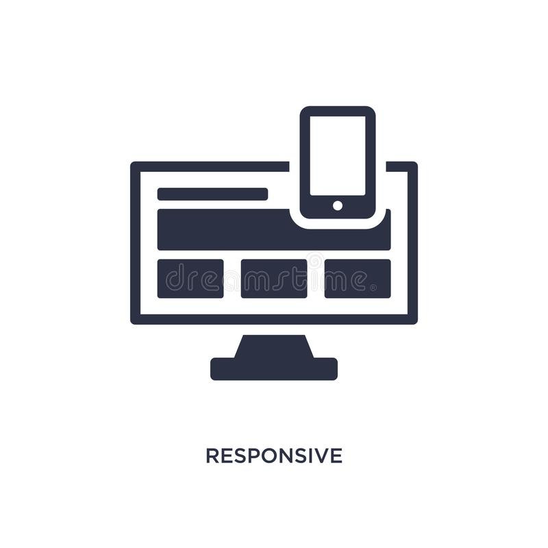 responsive icon on white background. Simple element illustration from strategy concept vector illustration
