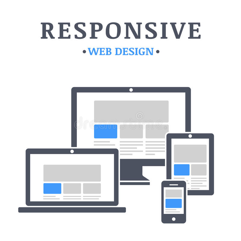 Responsive web design royalty free illustration