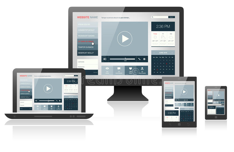 Responsive web design on different devices. Vector illustration vector illustration
