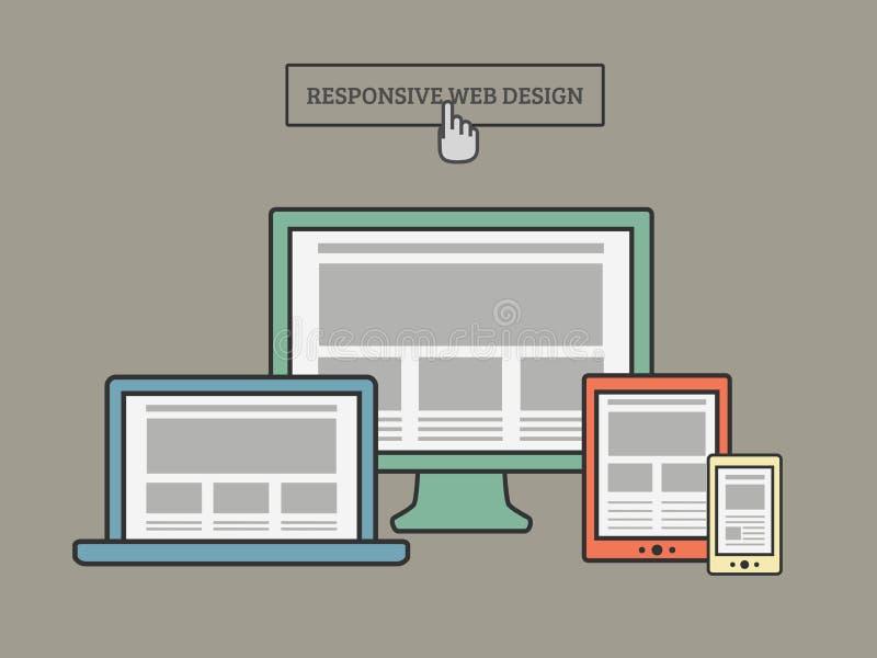 Responsive Web Design stock illustration