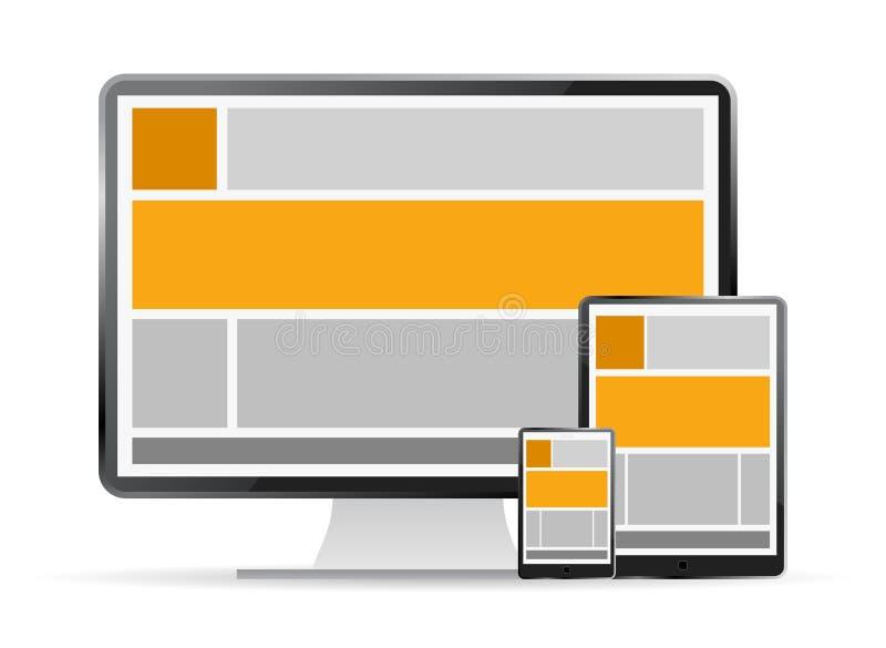 Responsive web design vector illustration