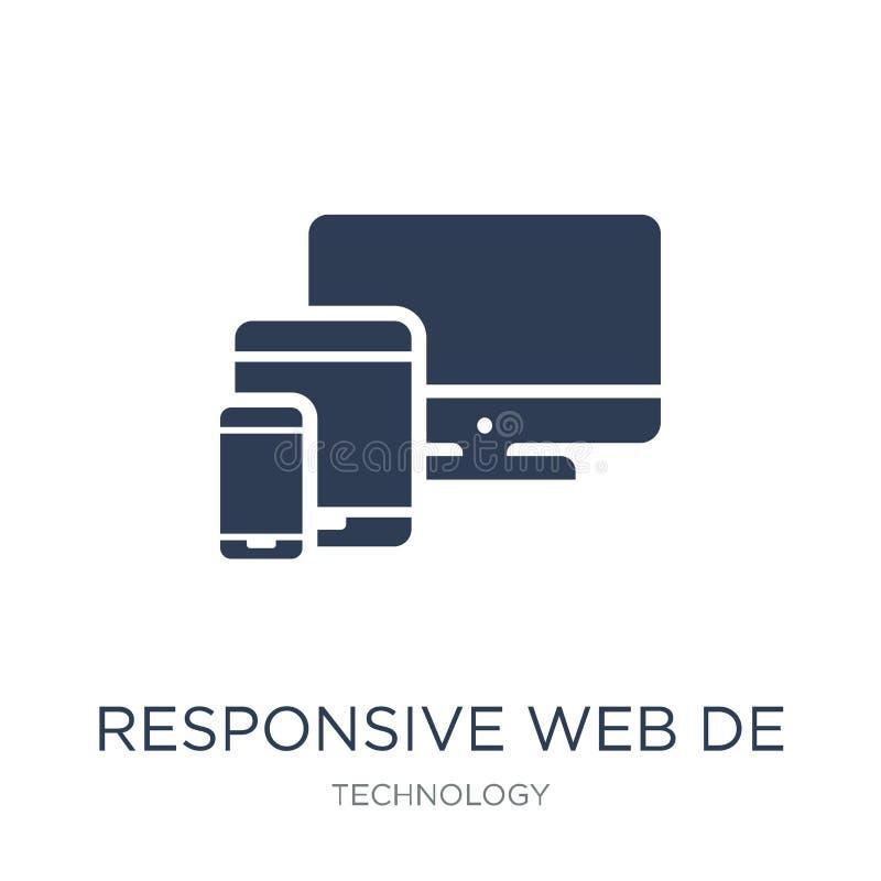 Responsive Web Design icon. Trendy flat vector Responsive Web De royalty free illustration