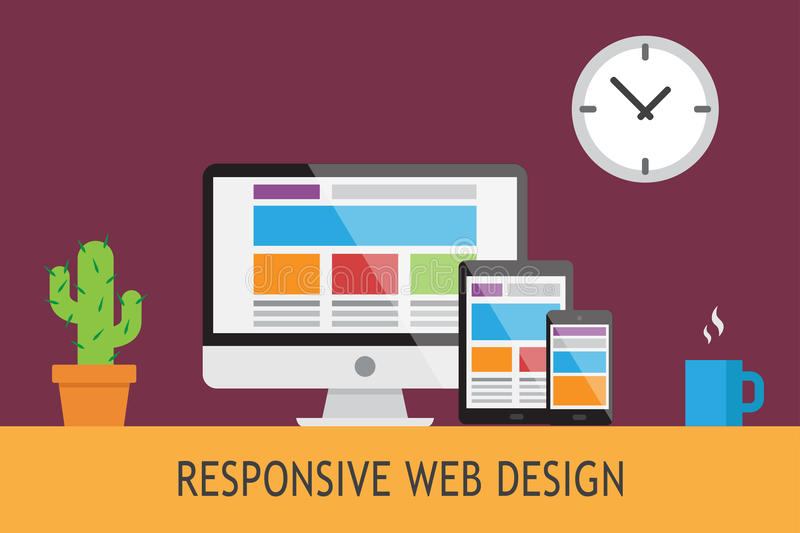 Responsive web design5. Illustration about the responsive web design in vectors royalty free illustration