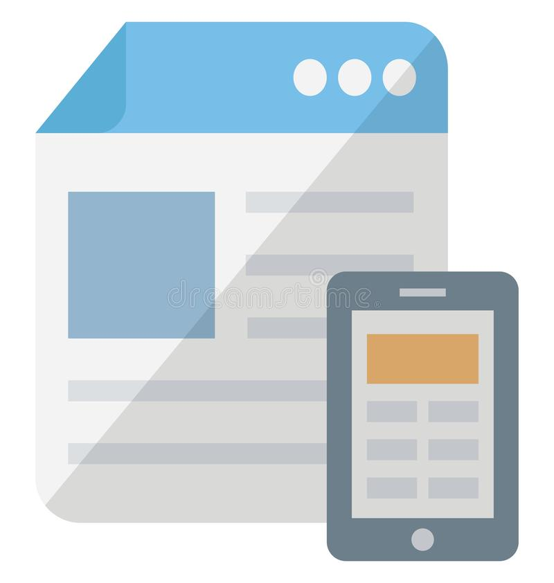 Responsive web design Isometric isolated vector icon which can be easily modified or edit vector illustration