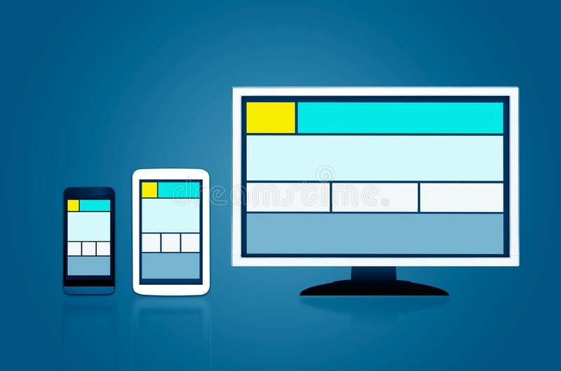 Responsive web design layout devices vector illustration