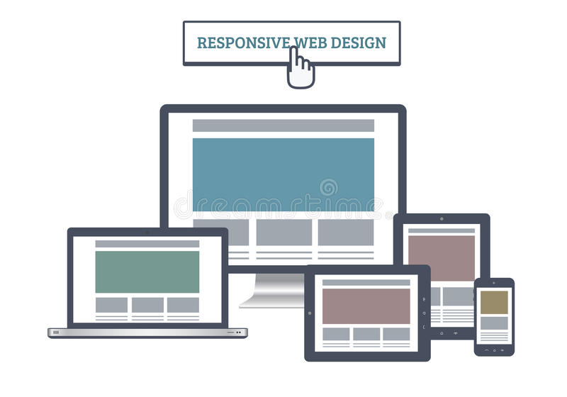 Responsive Web Mockup vector illustration