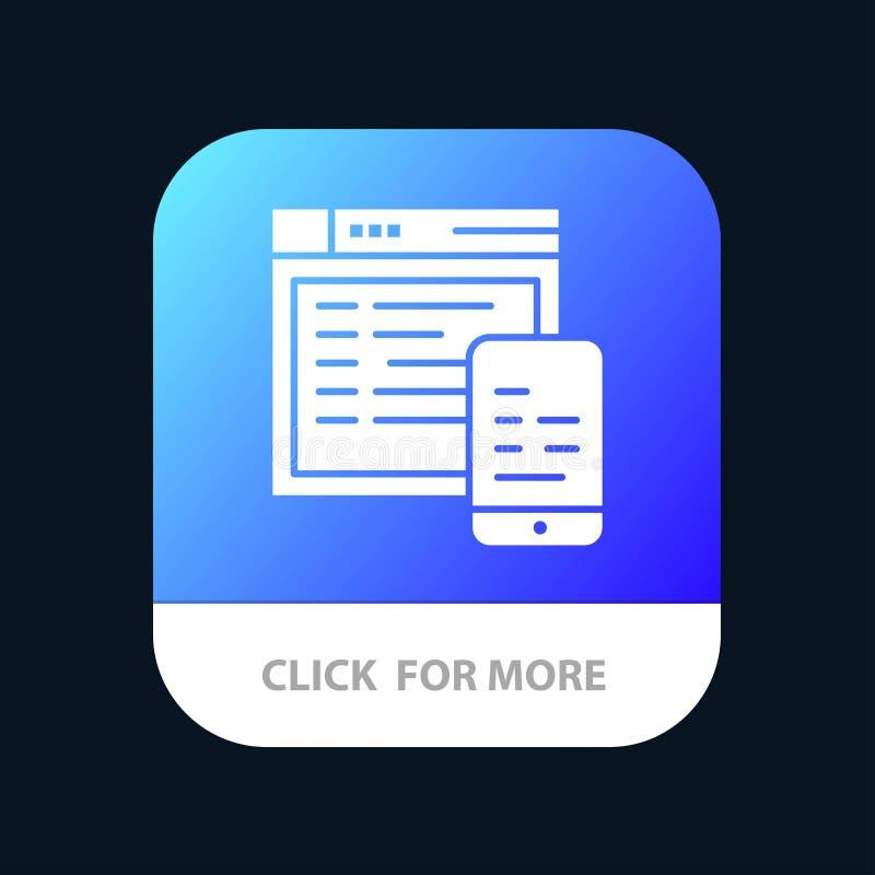 Responsivo, projeto, Web site, projeto móvel móvel do ícone do App ilustração royalty free