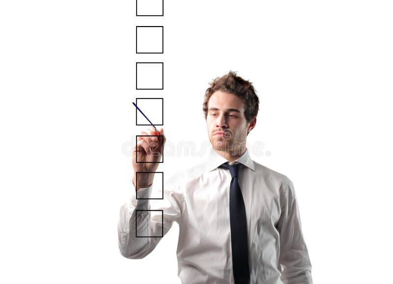 Resposta apropriada imagem de stock royalty free