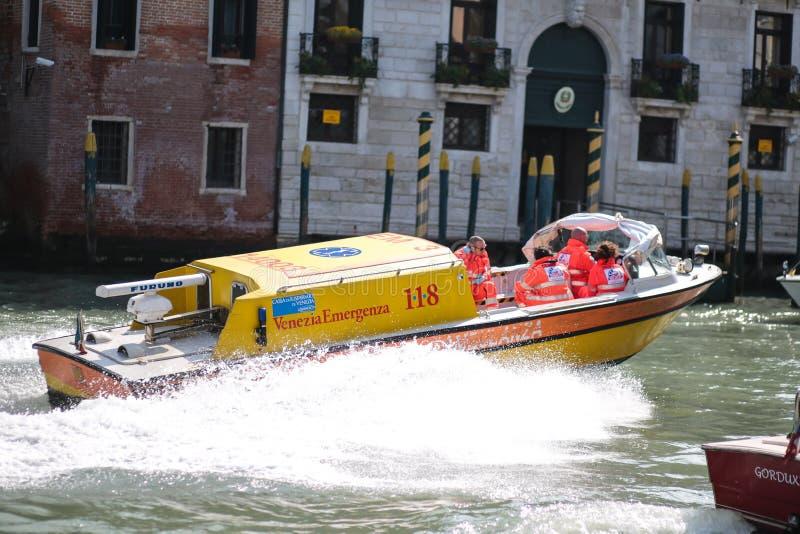 Respuesta de emergencia, Venecia foto de archivo