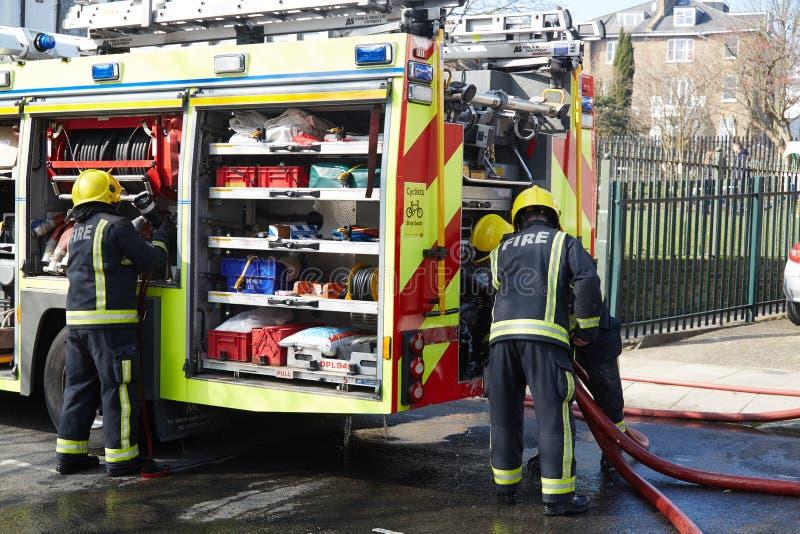 Respuesta del fuego en Londres, Reino Unido imágenes de archivo libres de regalías