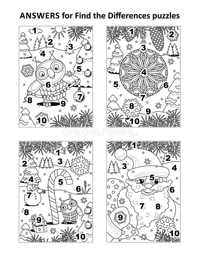 Respuestas para los rompecabezas visuales anteriores libre illustration