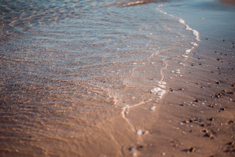 Ressaca calma da noite no Mar Negro imagem de stock royalty free
