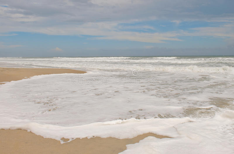 Ressaca de Emerald Isle North Carolina foto de stock