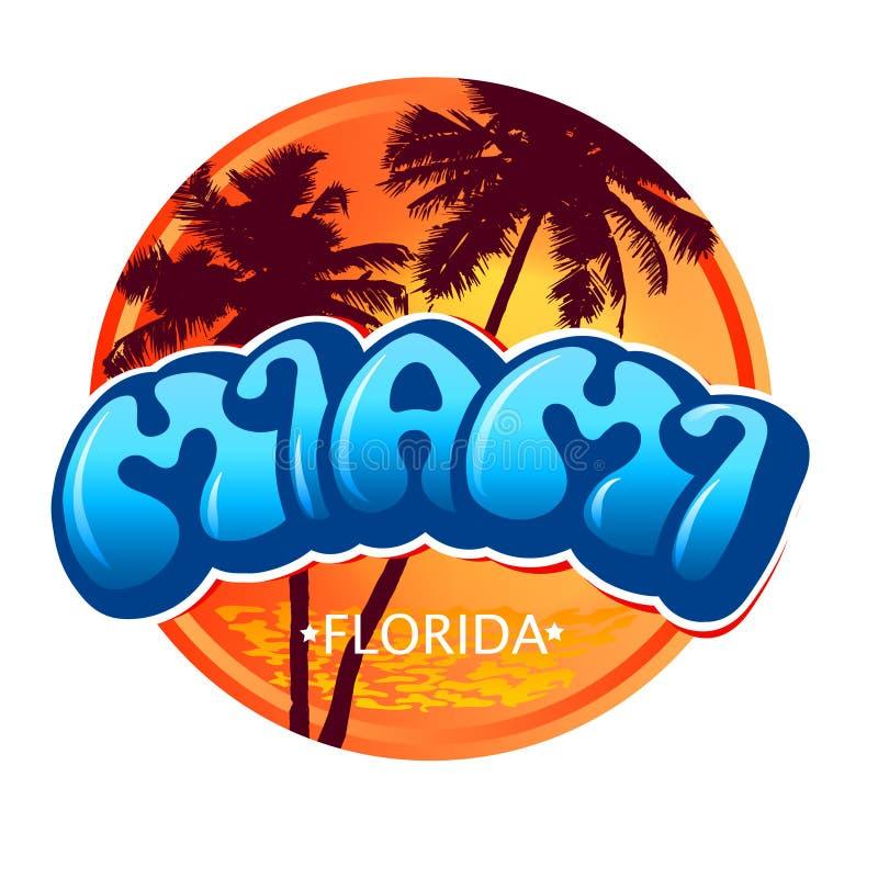 Ressaca de Miami Florida ilustração royalty free