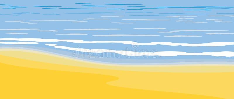 Ressaca do mar. Fragmento ilustração stock