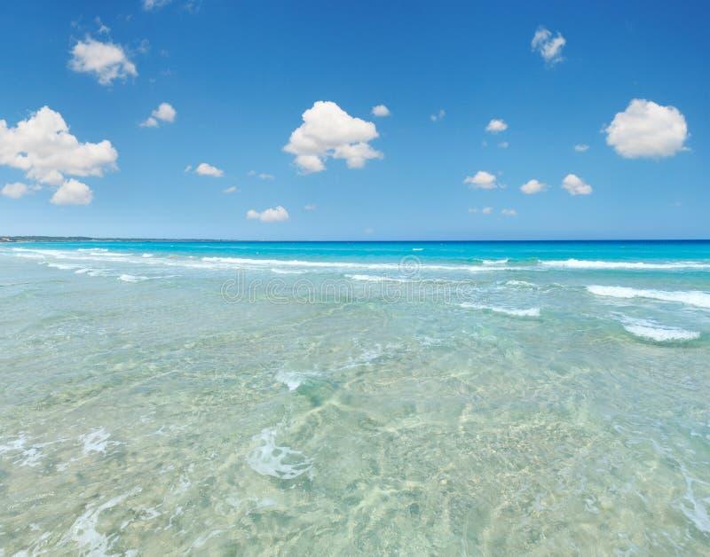 Ressaca do mar na praia foto de stock royalty free