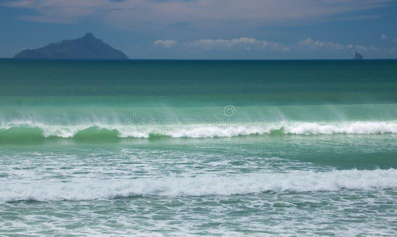 Ressaca do oceano foto de stock royalty free