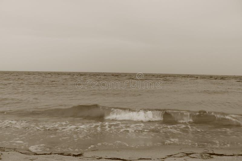 Ressaca na praia de Key Biscayne no sul Florida fotografia de stock royalty free