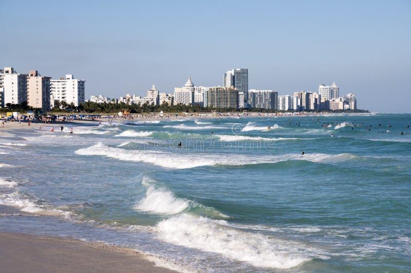 Ressaca na praia sul Miami imagem de stock royalty free